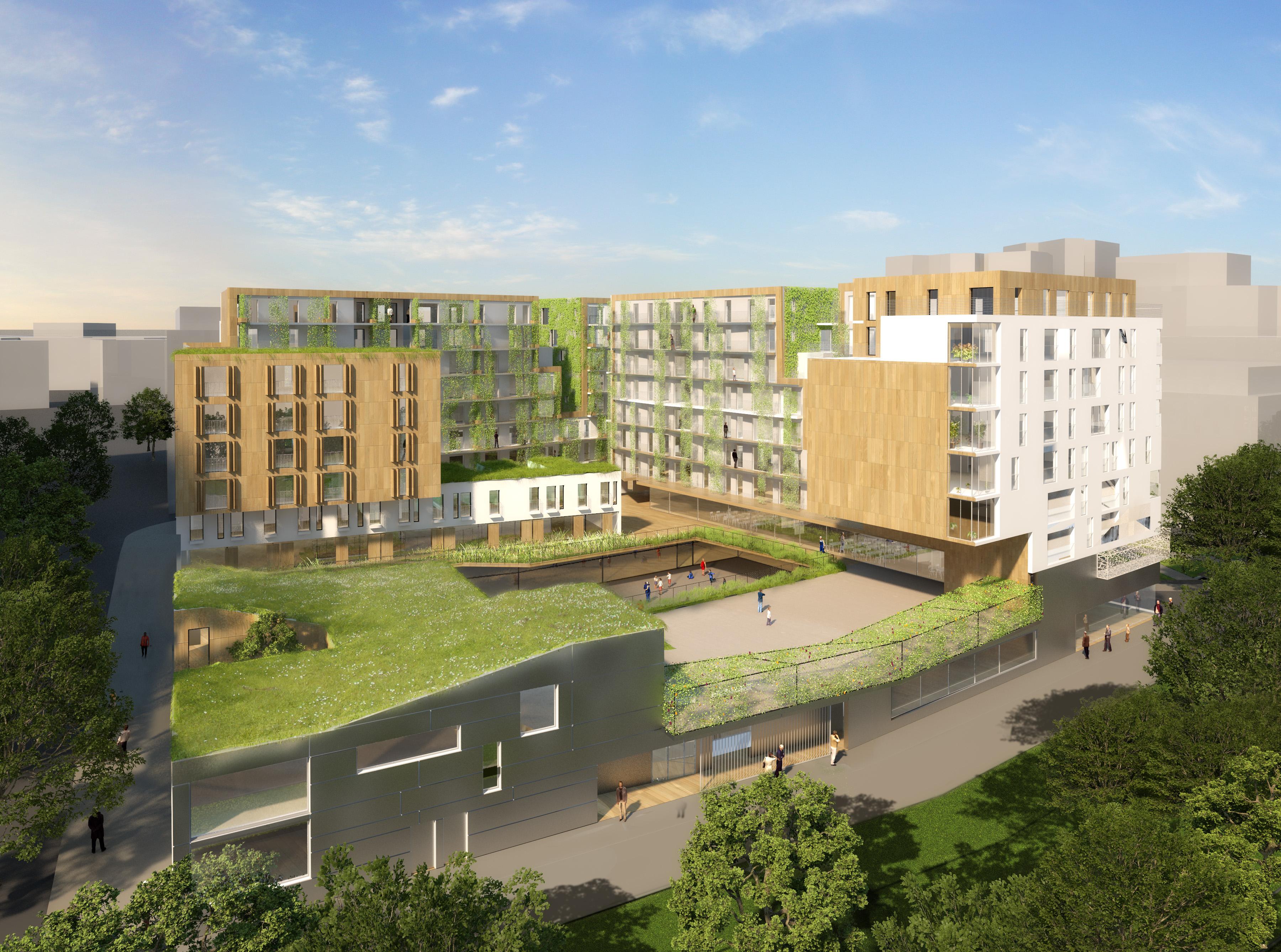 ISSY-LES-MOULINEAUX (92) - ZAC Bords de Seine - Ilot C - Groupe scolaire – 169 logements – Commerces – Parkings